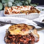 aubergine lentil lasagne
