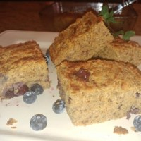 Banana Bread Sweet Potato Protein Bars With Blueberries