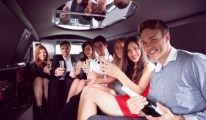 people in limo