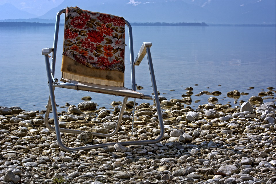 Chair in the sea shore