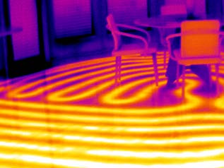Radiant Heating System  Thermography  Healthy Heating