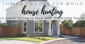 What to Look For While House Hunting
