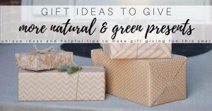 Eco Friendly & Green Gift Ideas