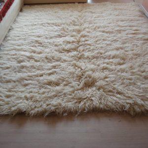 Organic White Wool Rug