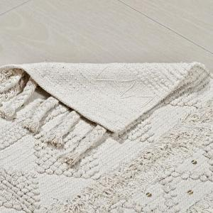 Cotton hand woven rug