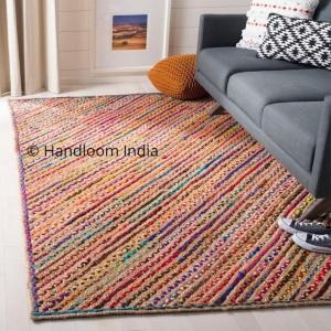 Hand Braided Chindi Floor Rug