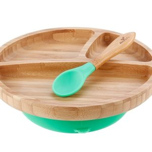 Avanchy Bamboo Suction Toddler Plate & Spoon