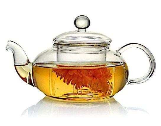 borosilicate glass tea pot toxin free