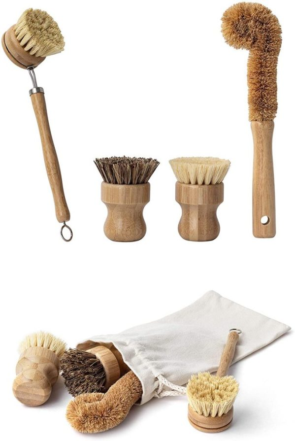 Earth's Own Natural Bamboo Dish Scrub Brush