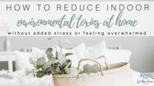 Easily Reduce Environmental Toxins at Home & Create a Healthy Lifestyle