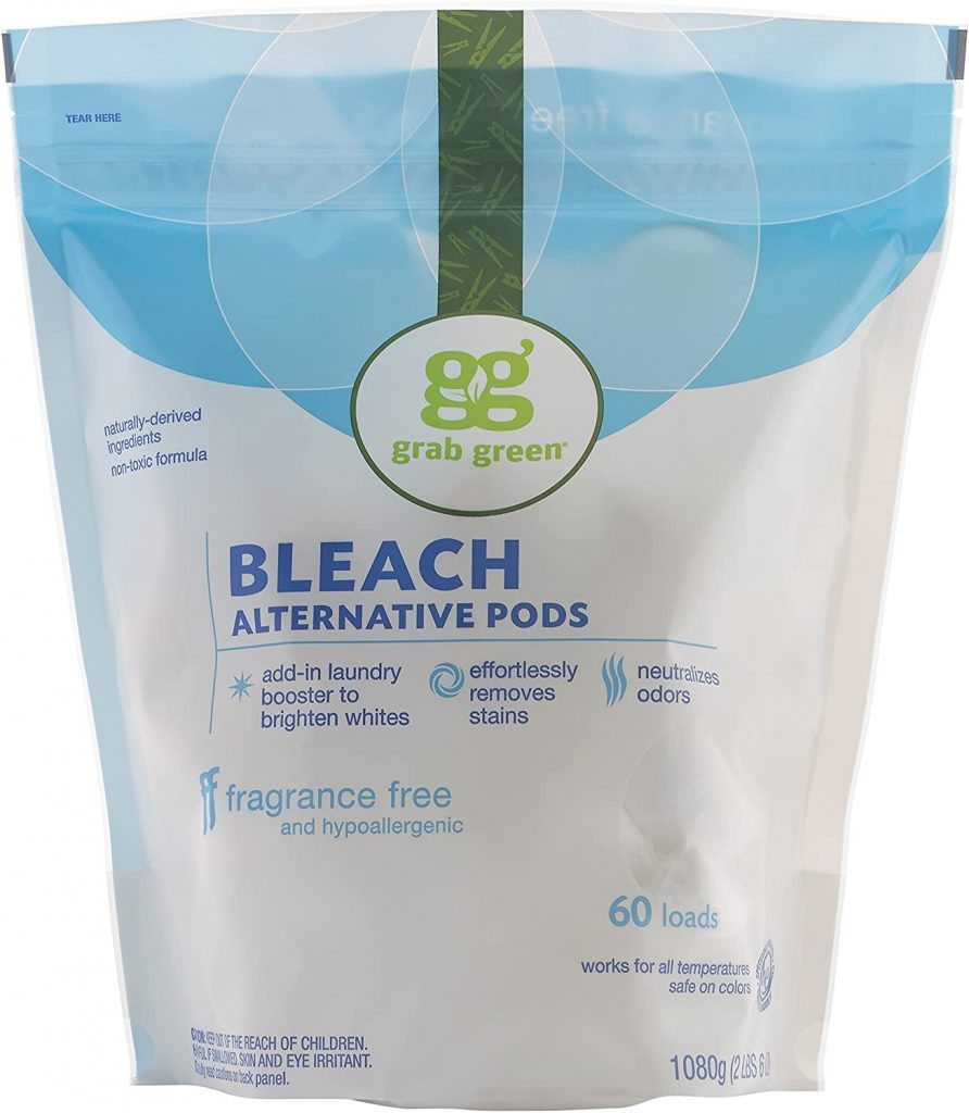 grab green chlorine free bleach pods