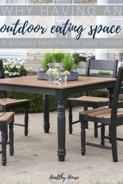 creating an outdoor eating space at home