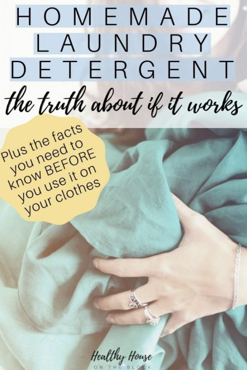 homemade laundry detergent facts