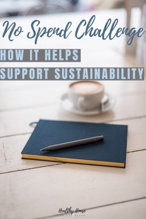 how a no spend challenge supports sustainability