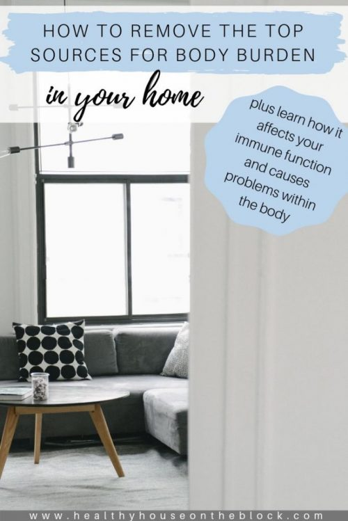 how to reduce body burden and home and how body burden affects your immune system
