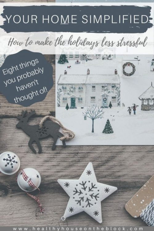 ideas to keep a simplified home this christmas