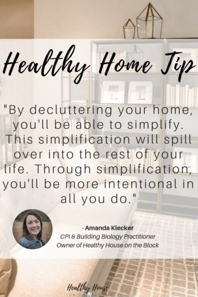 how organizing and decluttering are beneficial to your health