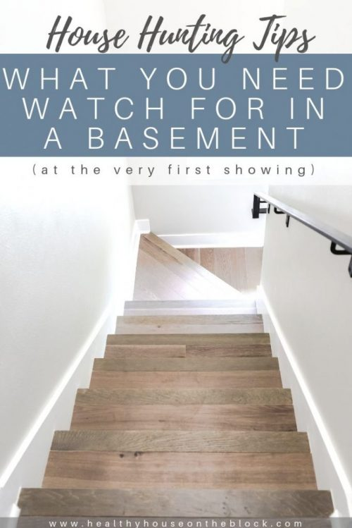 what to look for in a basement while house hunting
