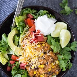 Easy Chicken Burrito Bowl {Instant Pot}