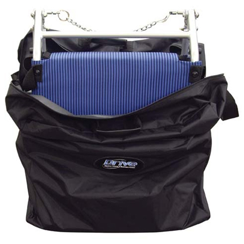 Drive Medical Folding Transport Chair with Carry Bag at