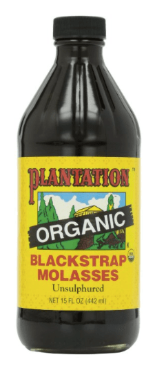 Blackstrap molasses contains 0.8mg per ounce