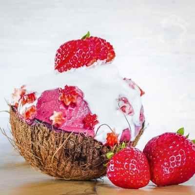 strawberry shortcake nice cream