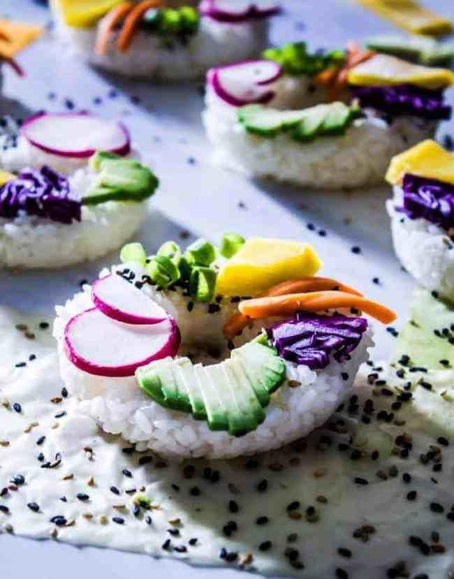 rainbow sushi doughnuts