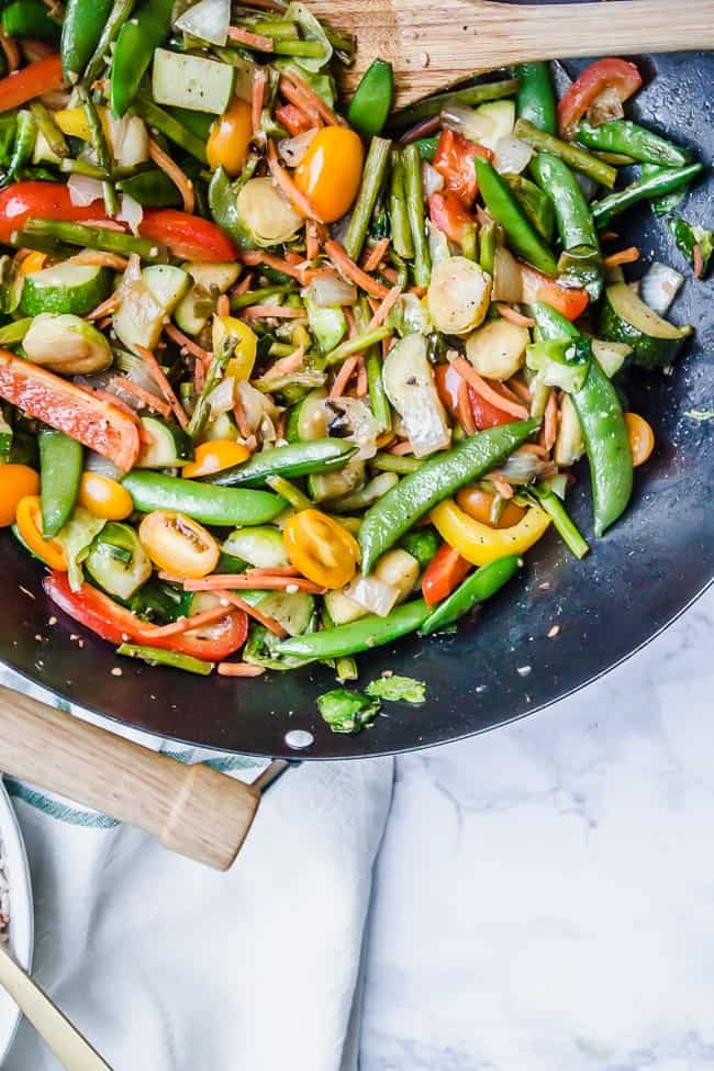 30 minute stir fry with maple peanut sauce