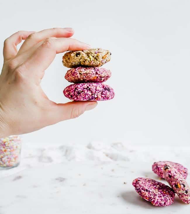no-bake funfetti ombre cookies