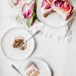 gluten-free, vegan ginger spice cake with blood orange buttercream frosting by healthy little vittles