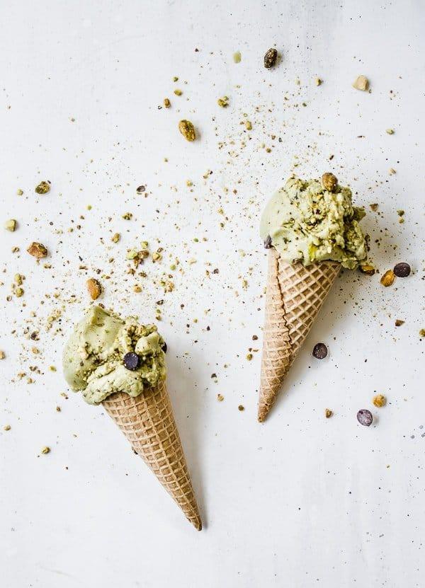 Vegan Matcha Pistachio Chocolate Chip Ice Cream