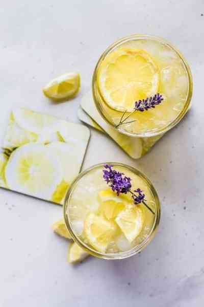 fresh squeezed mango lavender lemonade