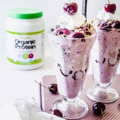 cherry pie protein nice cream sundaes