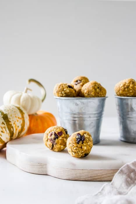 Pumpkin Cranberry Cheesecake Bites