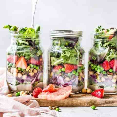 Spring Detox Mason Jar Salads
