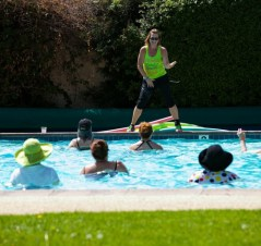 In the water at Oaks at Ojai - Healthy Living and Travel