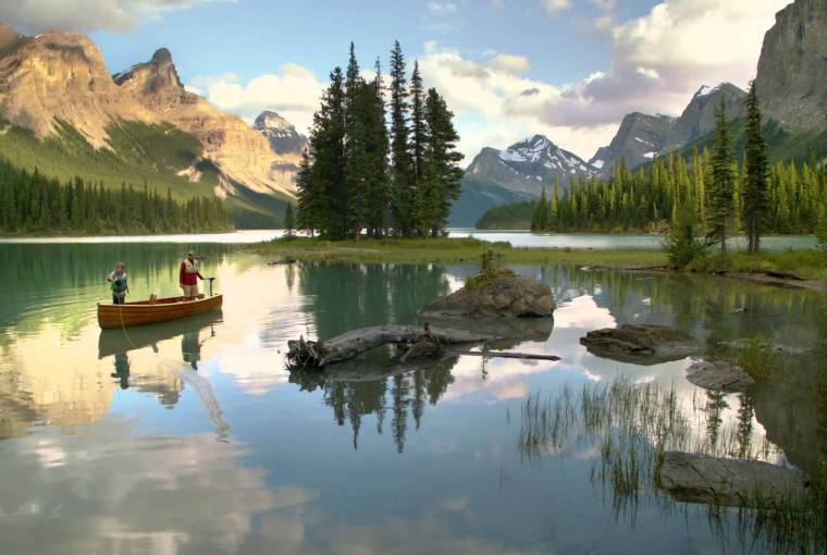 Maligne Lake, Spas of Alberta, Healthy Living + Travel