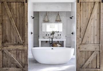 Leanne Ford's Chic White Bathroom Design, Healthy Living + Travel