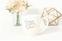 Grace Upon Grace Mug www.healthylivingmom.com