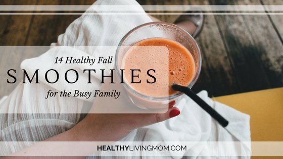 14 Fall Healthy Smoothies for the Busy Family | www.healthylivingmom.com