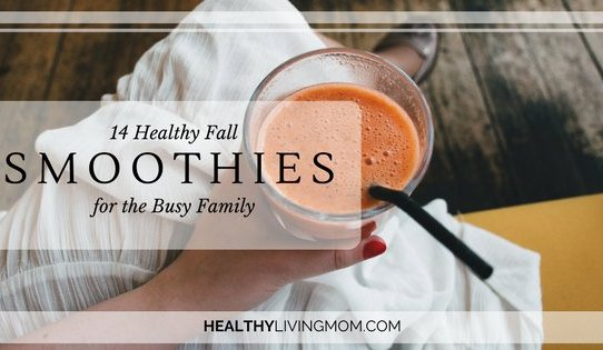 14 Fall Healthy Smoothies for the Busy Family   www.healthylivingmom.com