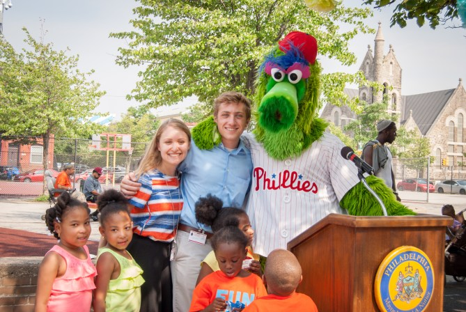 The Phillie Phanatic makes everyone smile!