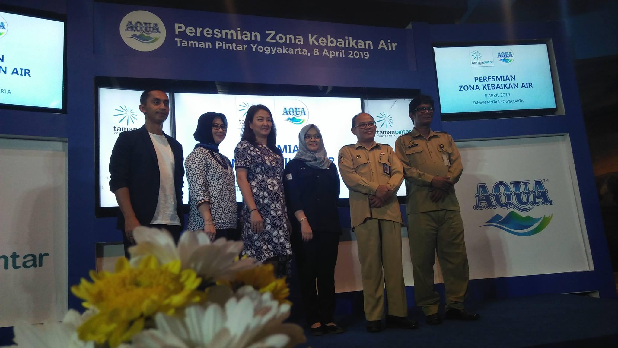 Ayo Minum Air, Danone AQUA luncurkan 'Zona Kebaikan Air' di Taman Pintar Yogyakarta