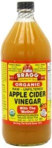bragg apple cider vinegar. best natural treatment for clarifying hair without stripping