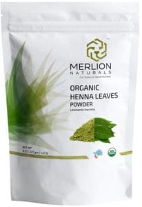 Merlion Naturals Organic Henna Leaves Powder