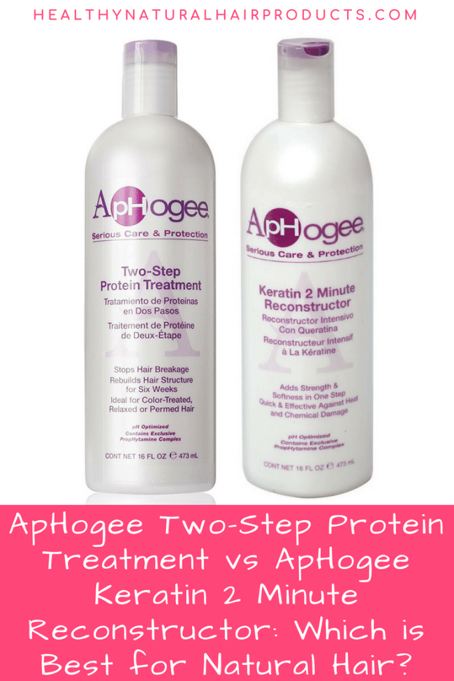 ApHogee TwoStep Protein Treatment vs ApHogee Keratin 2 Minute Reconstructor