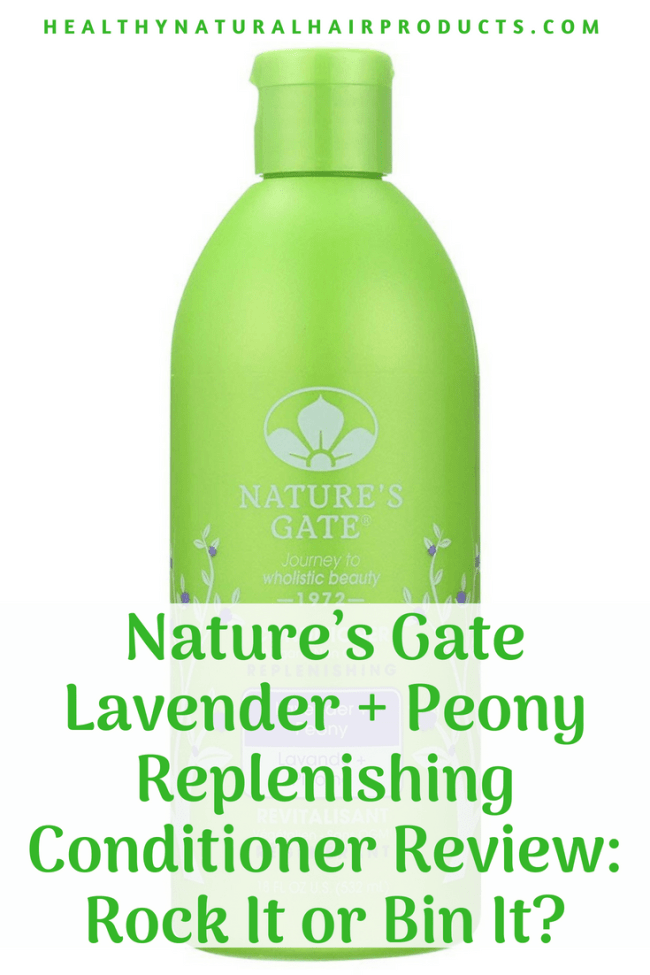 Nature's Gate Lavender + Peony Replenishing Conditioner Review