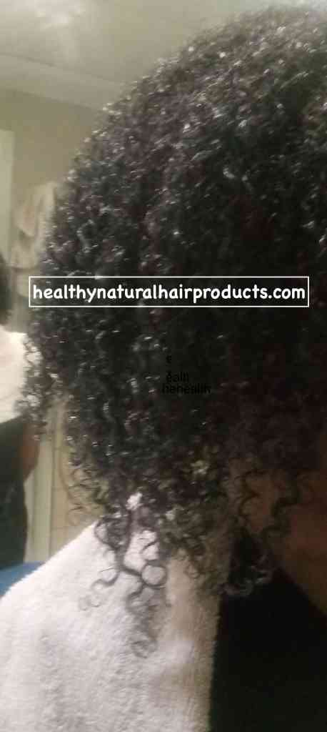 max hydration method results on natural hair