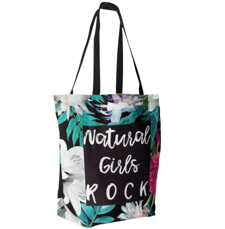 curly hair gift set, Natural Girls Rock Reusable Tote Bag