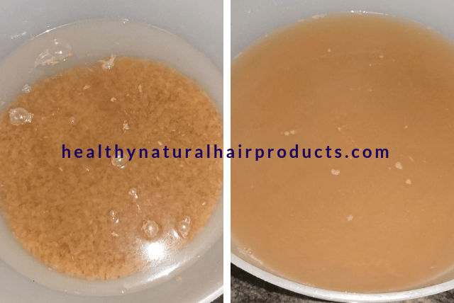 rice water recipes for hair growth
